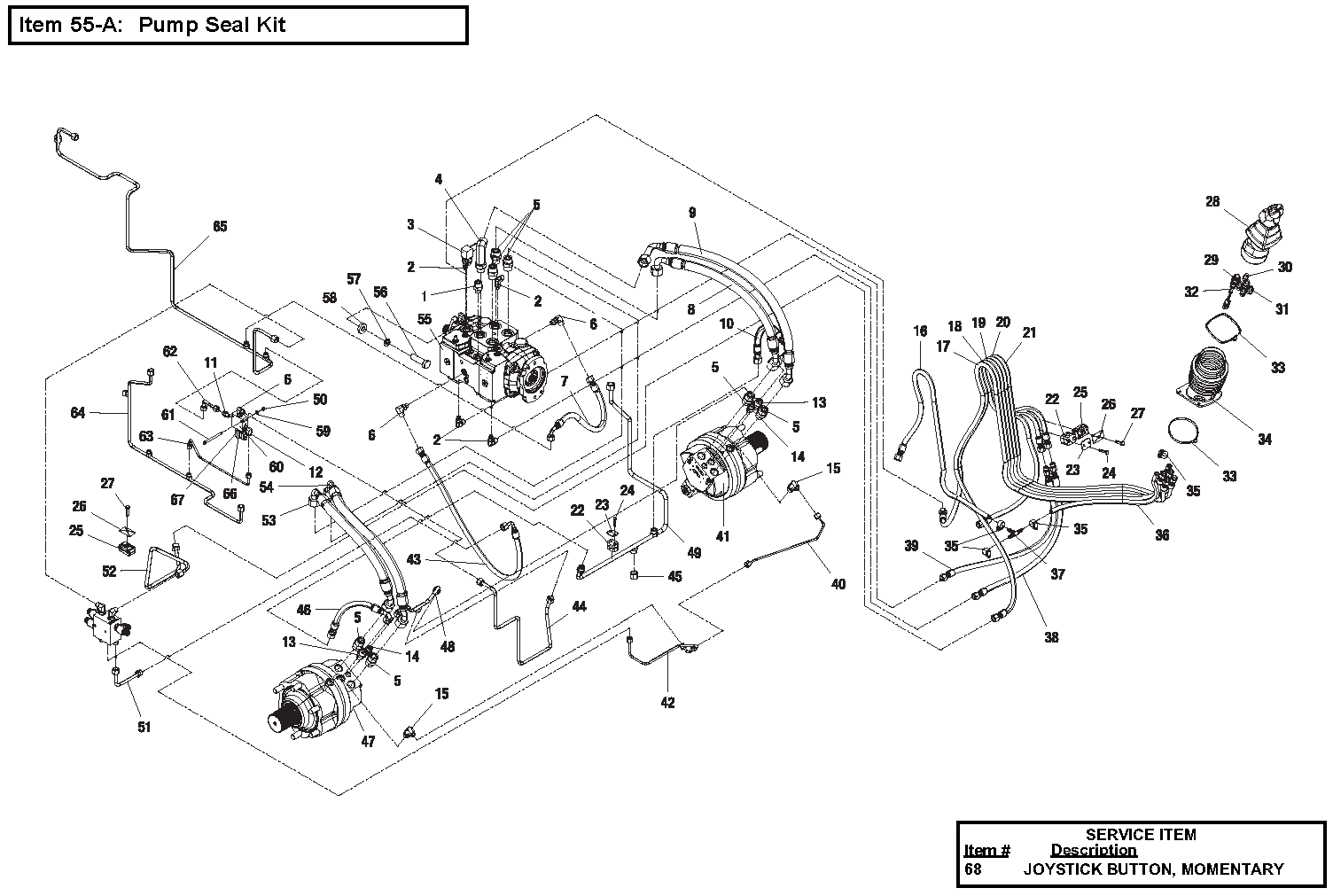 Diagram 3-8A Hydraulic Drive Assembly- Two Speed