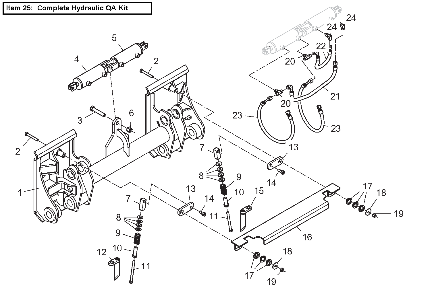Diagram 8-3A Quick Attach Mounting Plate - Hydraulic