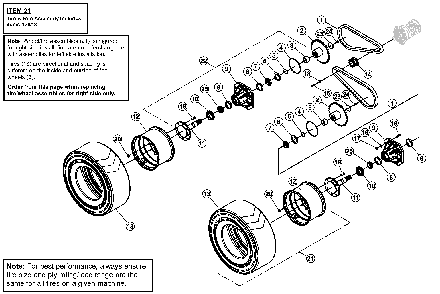 Diagram 5-1A Final Drive Assembly - Right Side