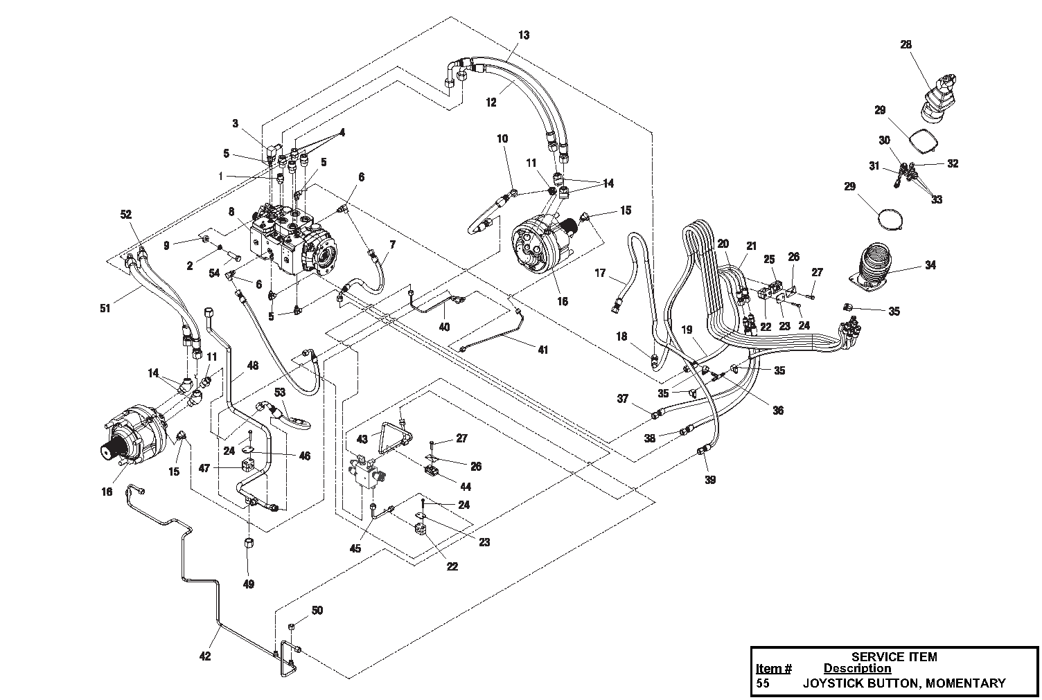 Diagram 3-7A Hydraulic Drive Assembly- Single Speed