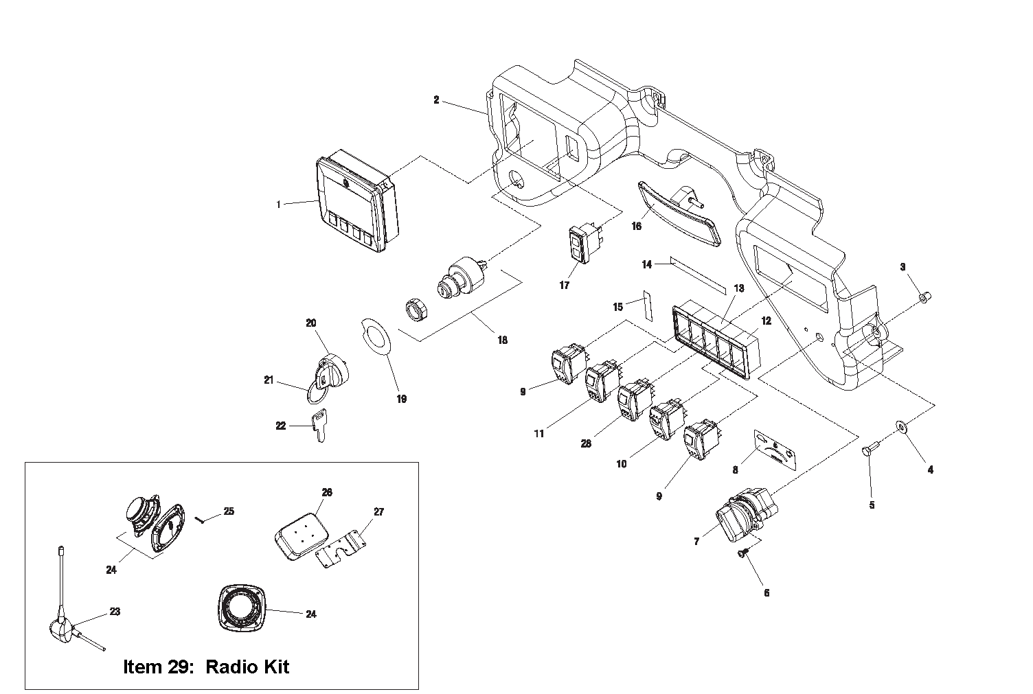 Diagram 4-1A Dash Switches