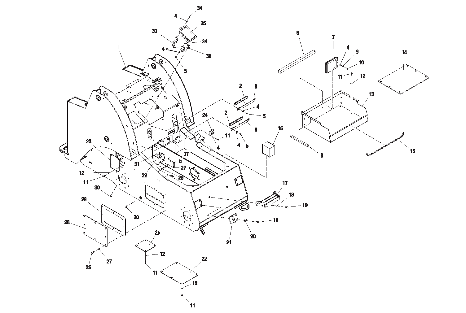 Diagram 6-1A Chassis