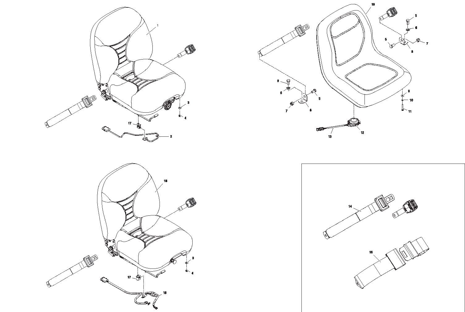 Diagram 7-5A Seat - Seatbelt Assemblies - Seat Switches
