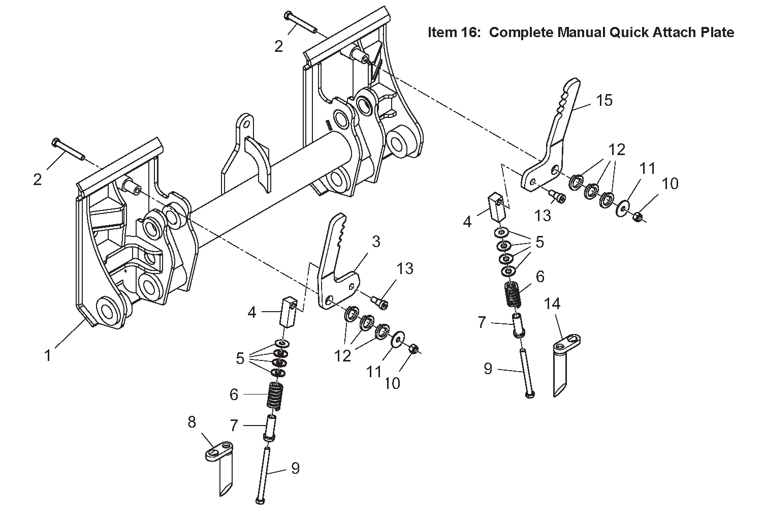 Diagram 8-2A Quick Attach Mounting Plate - Manual
