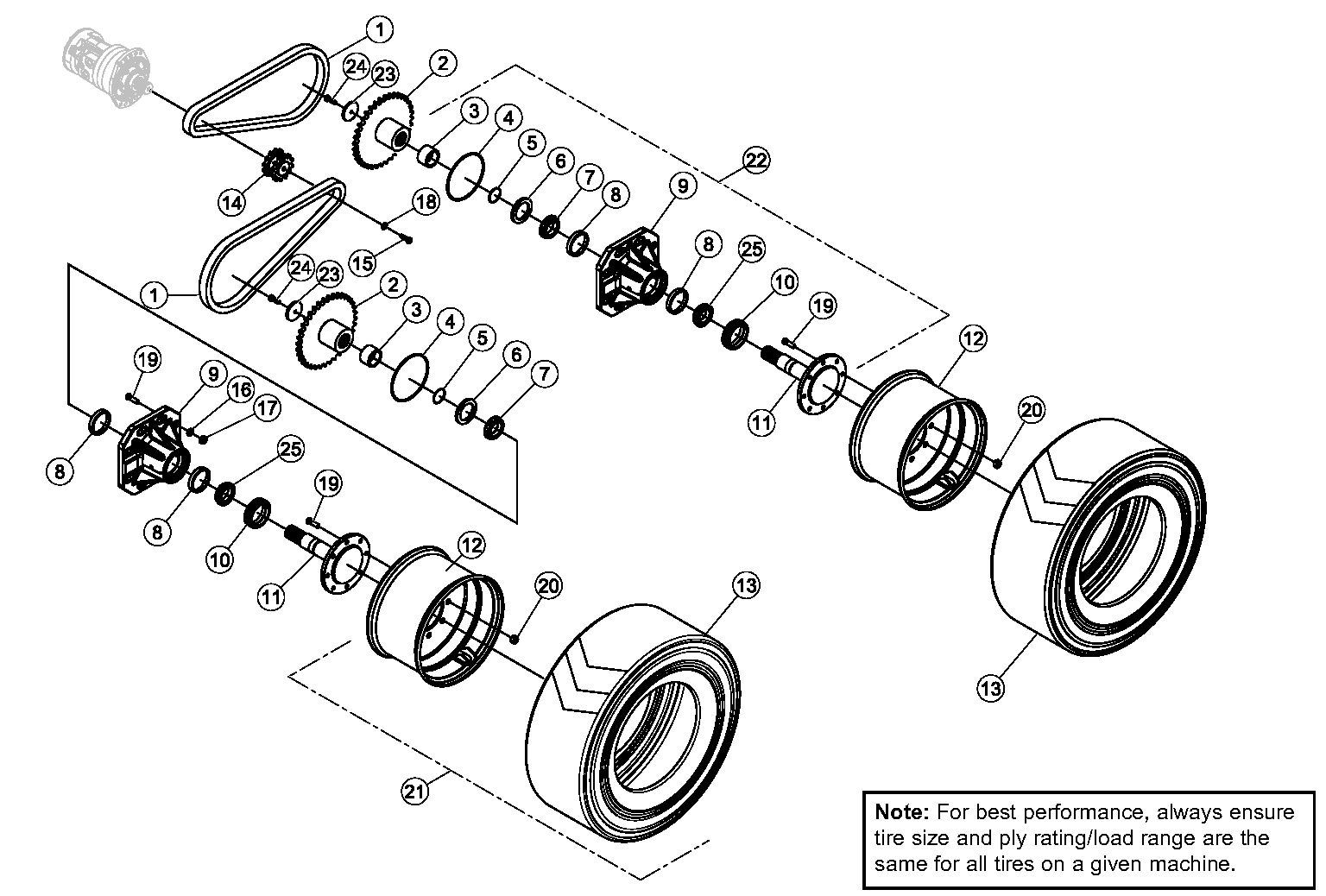 Diagram 5-2A Final Drive Assembly - Left Side