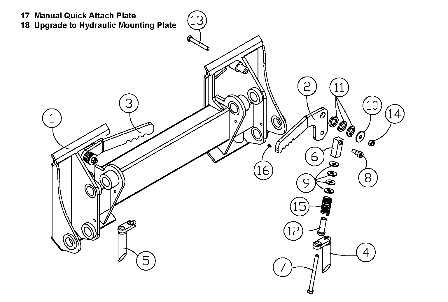 Diagram 8-1A Quick Attach Mounting Plate - Manual