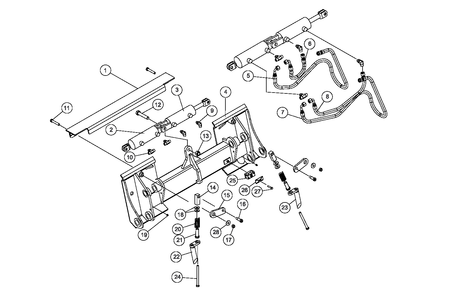 Diagram 8-2A Quick Attach Mounting Plate - Hydraulic