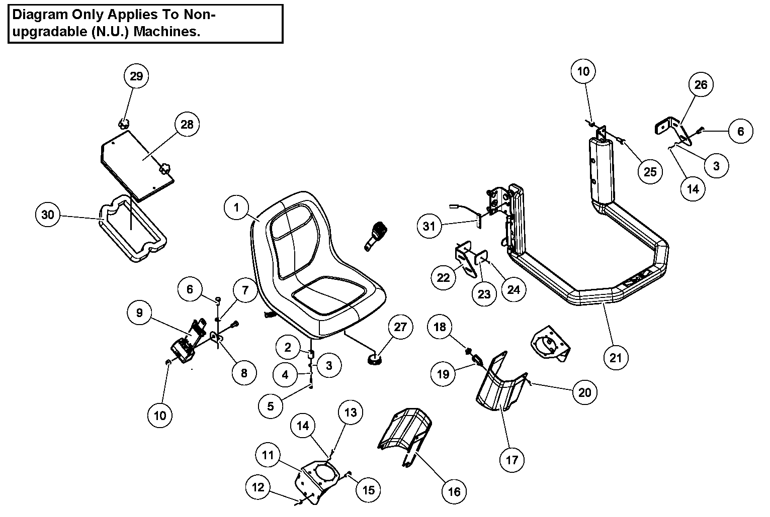 Diagram 02-A Cab Interior - Open ROPS