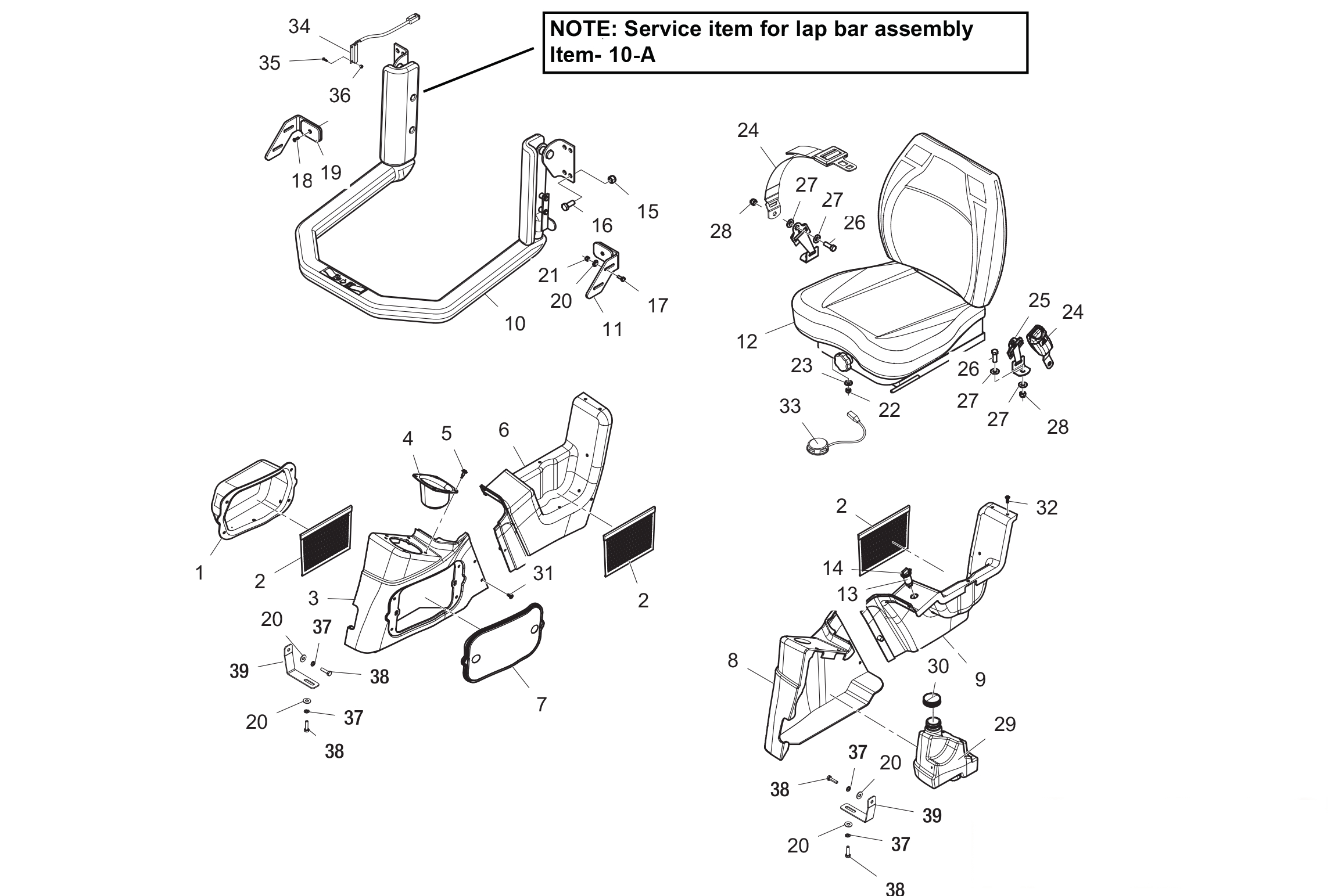 Diagram 05-A Cab Interior - Cab ROPS