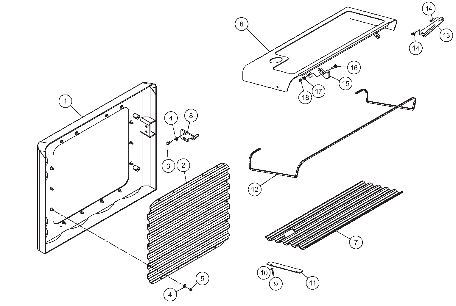 Diagram 10-B Hood Assembly