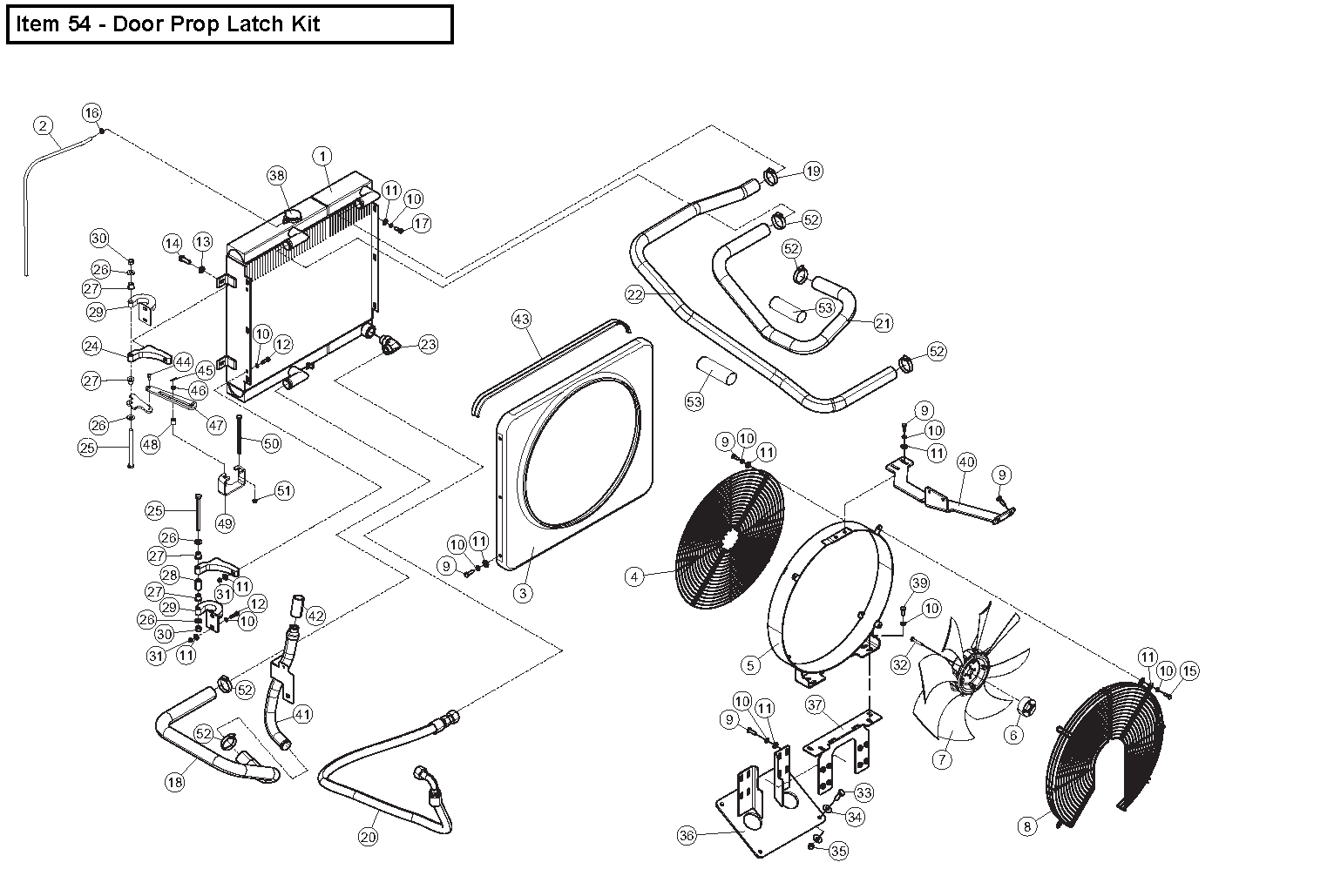 Diagram 11-A Radiator And Oil Cooler Assembly