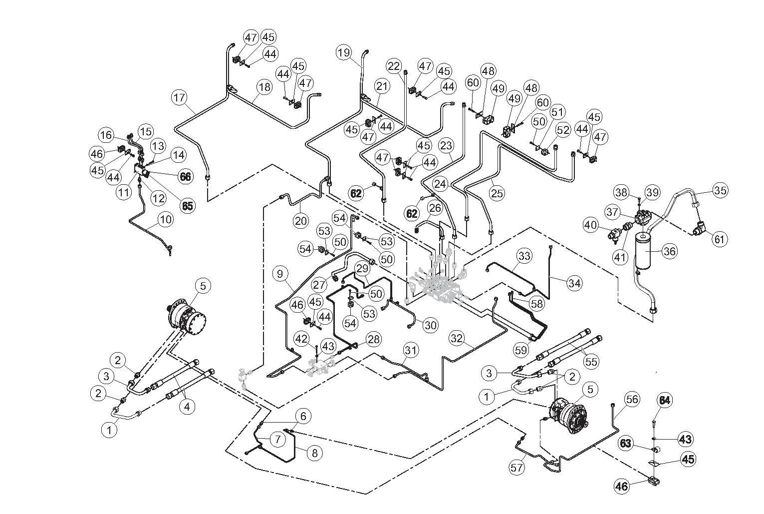 Diagram 14-A Hydraulic Control Assembly - Single Speed