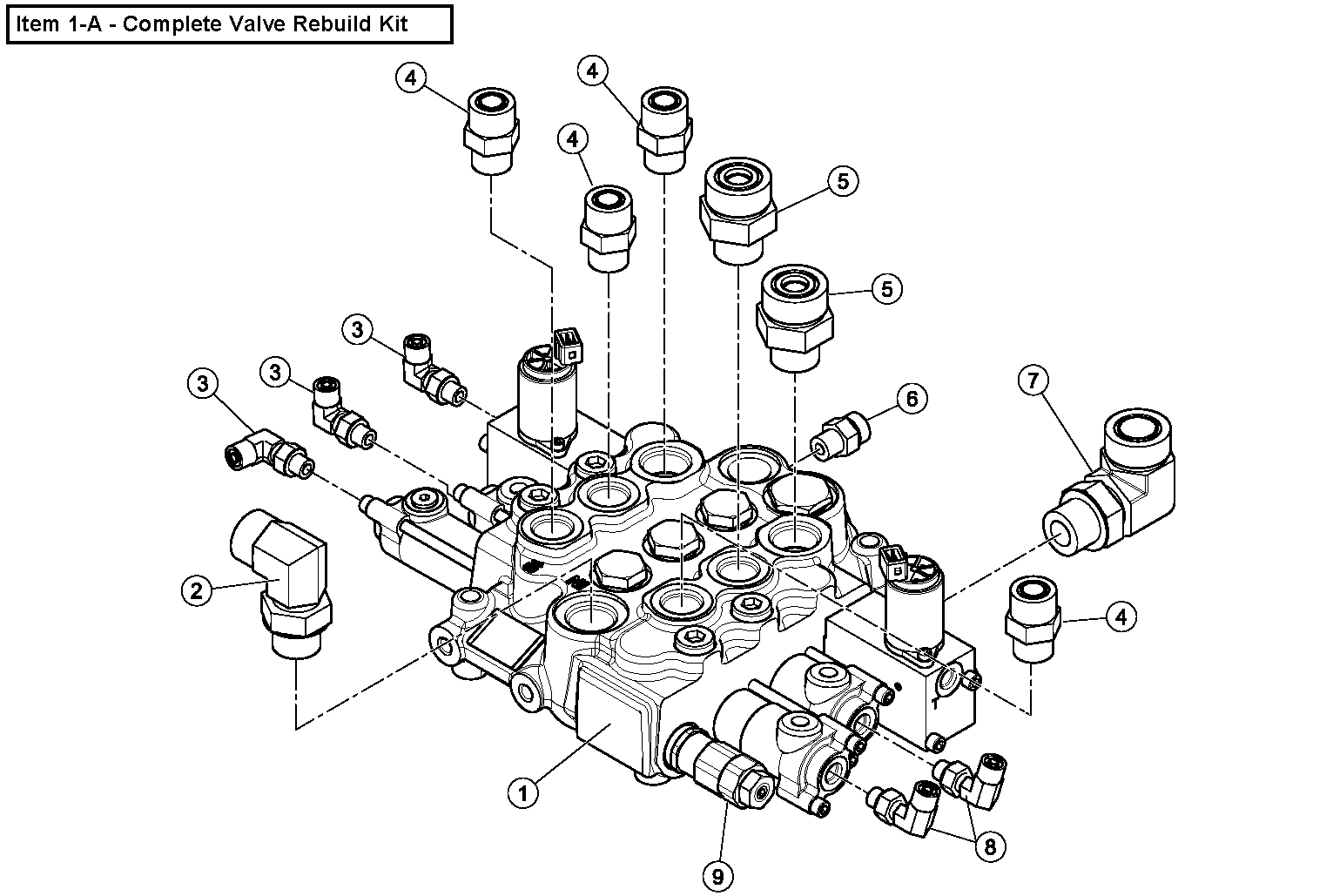 Diagram 15-A Lift Arm Control Valve Assembly