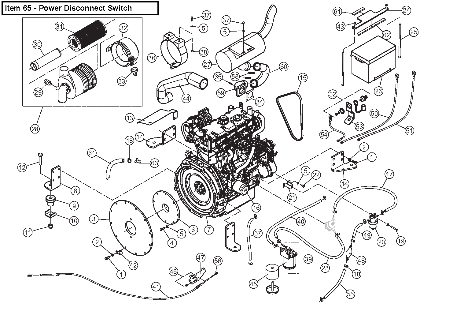 Diagram 19-B Engine Assembly
