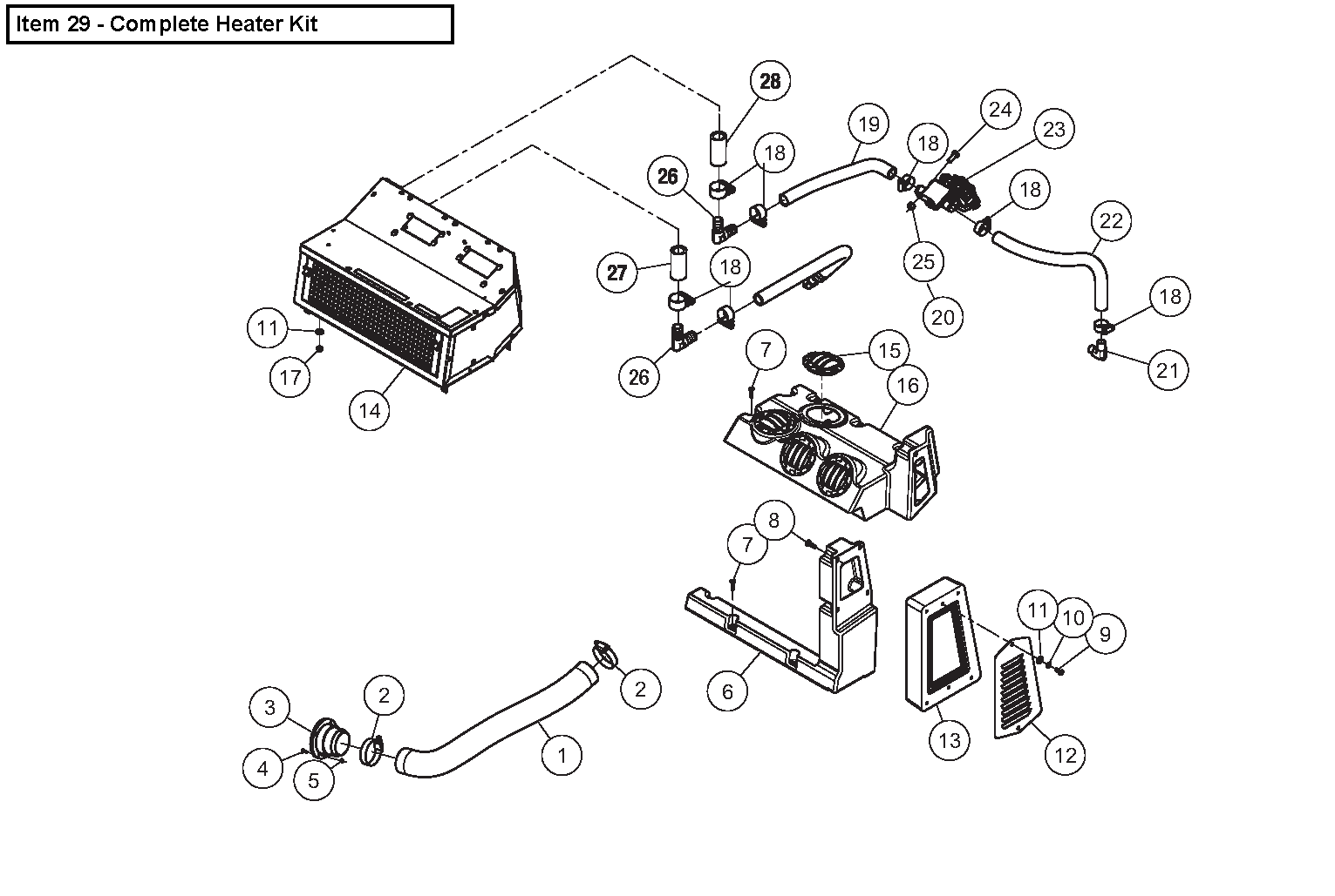 Diagram 28-B Cab Heater - Optional