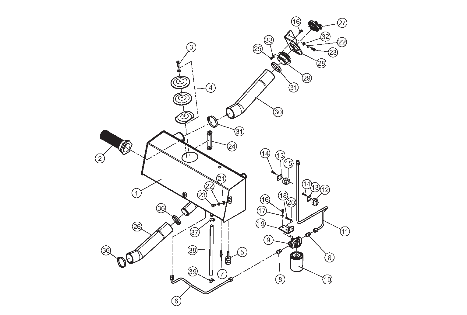 Diagram 12-A Hydraulic Resevoir Assembly