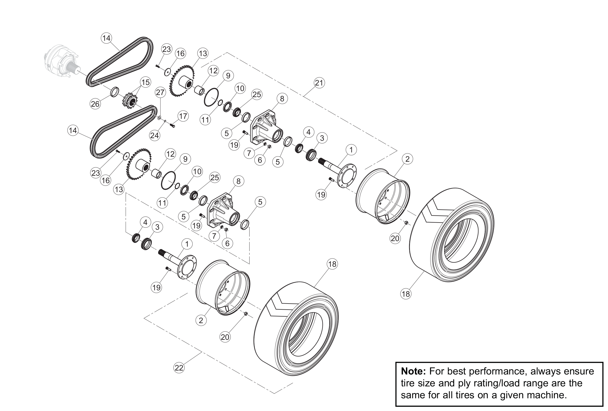 Diagram 22-A Final Drive Assembly - Left Side