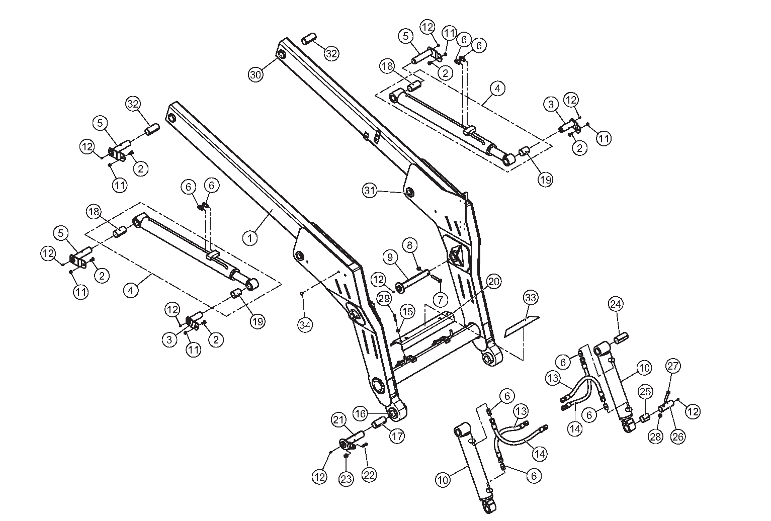 Diagram 23-A Lift Arm Assembly