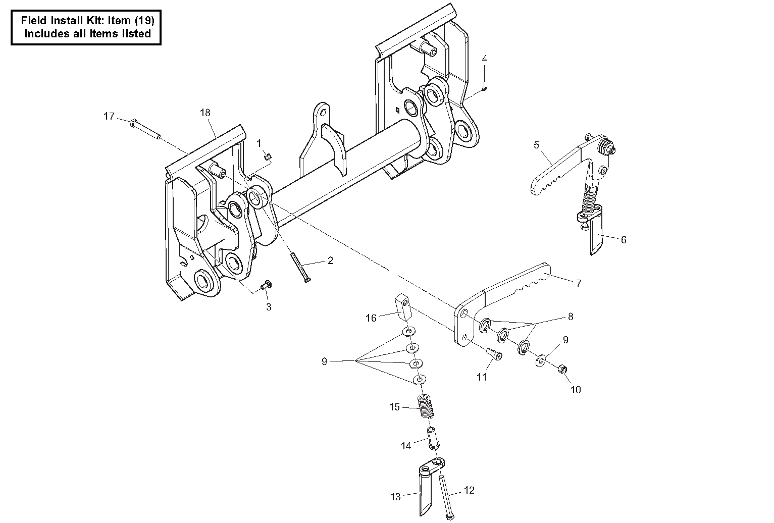 Diagram 25-B Manual Quick Attach Assembly