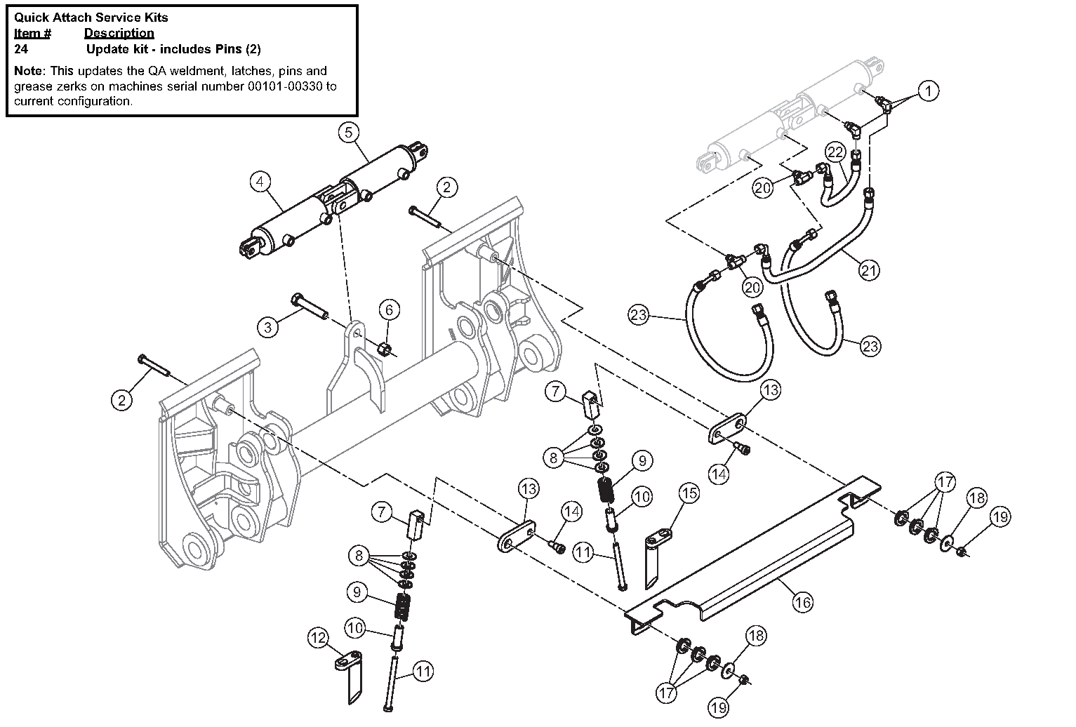 Diagram 26-A Power Quick Attach Assembly