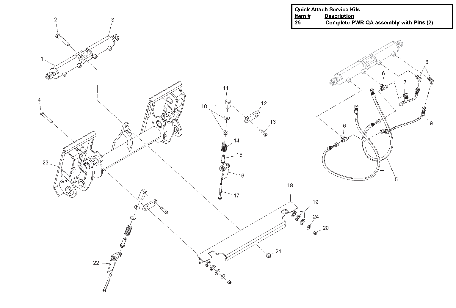 Diagram 26-B Power Quick Attach Assembly