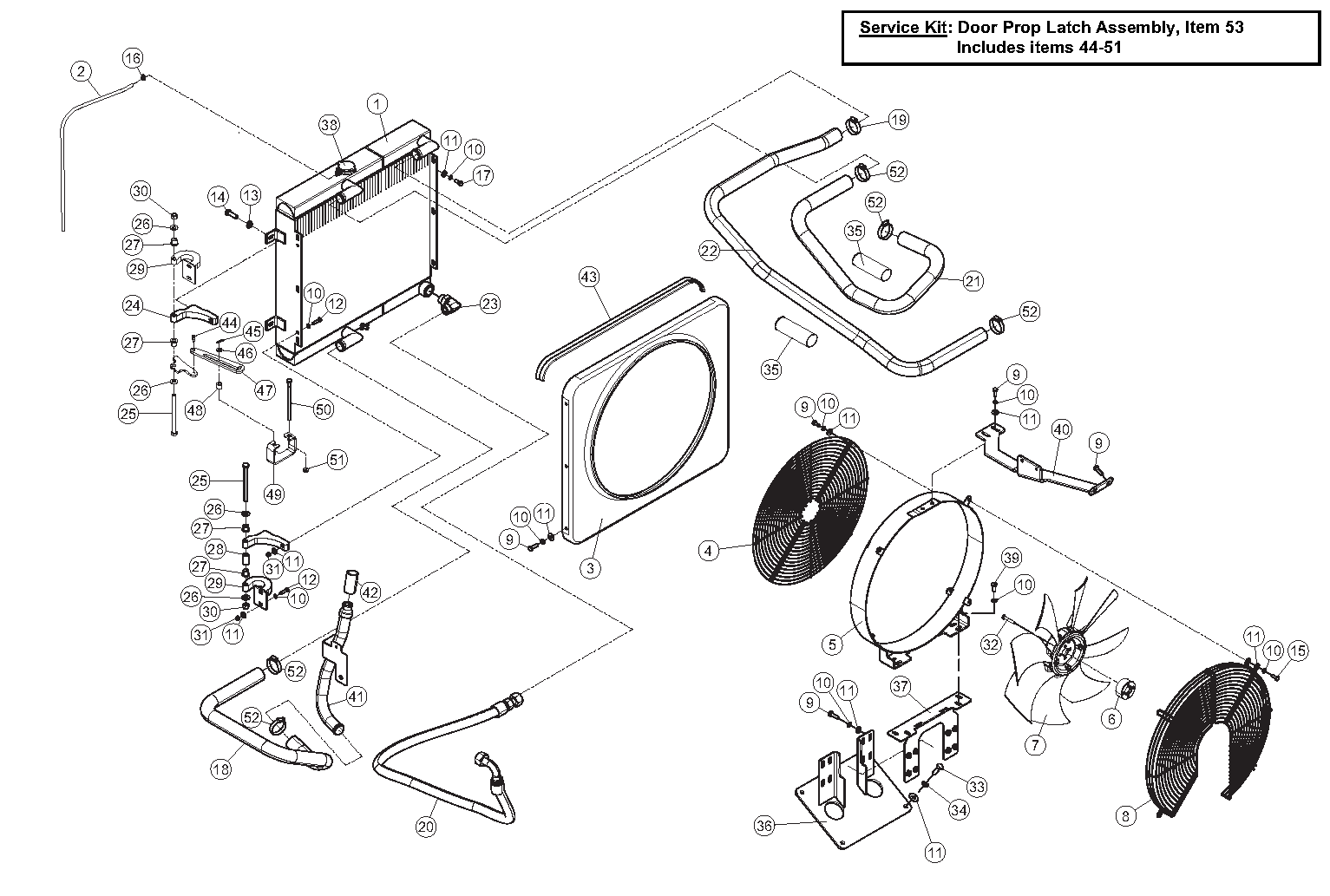 Diagram 11-B Radiator And Oil Cooler Assembly