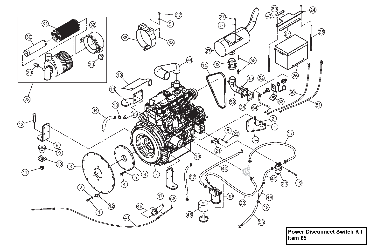 Diagram 18-B Engine Assembly