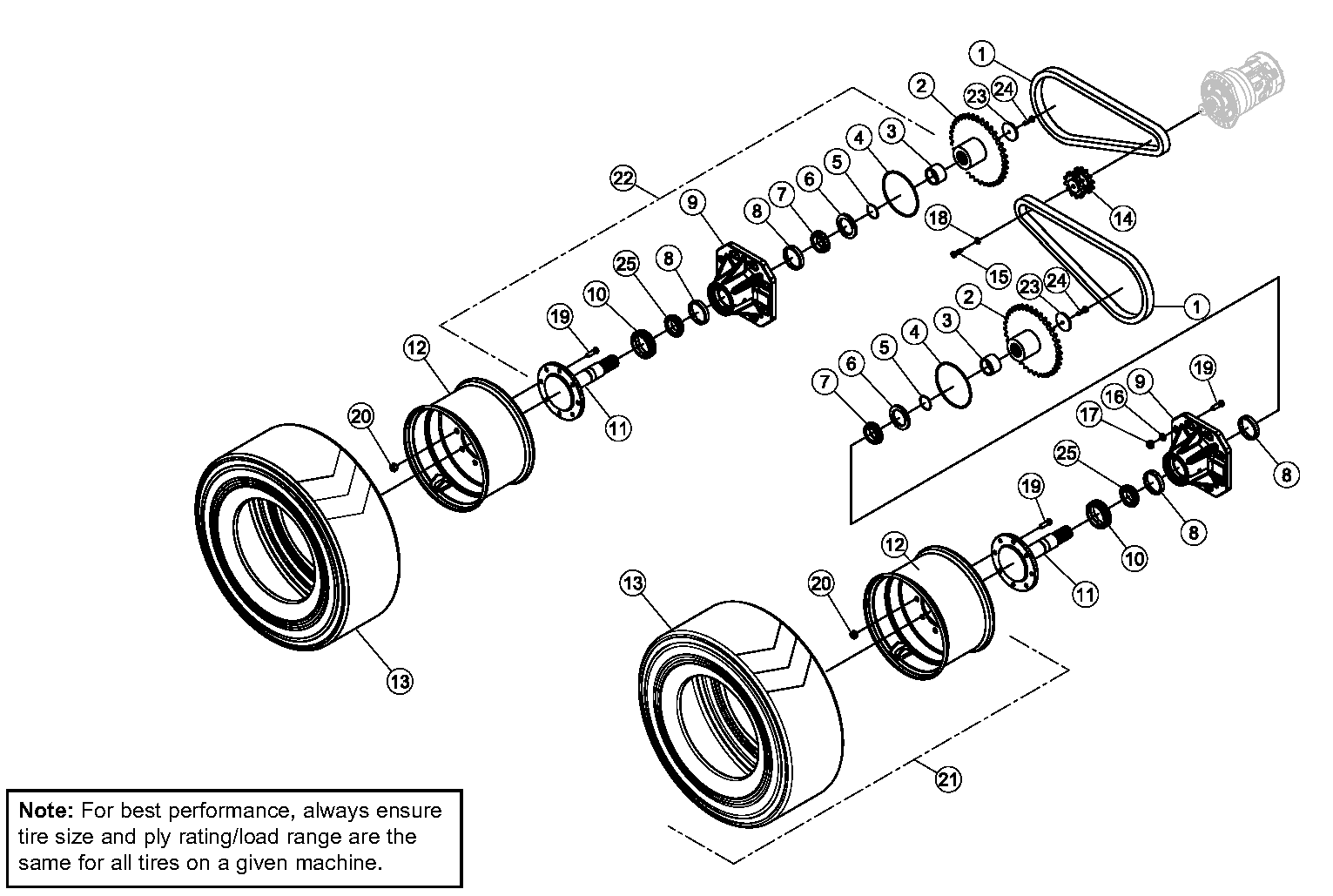 Diagram 21-A Final Drive Assembly - Right Side