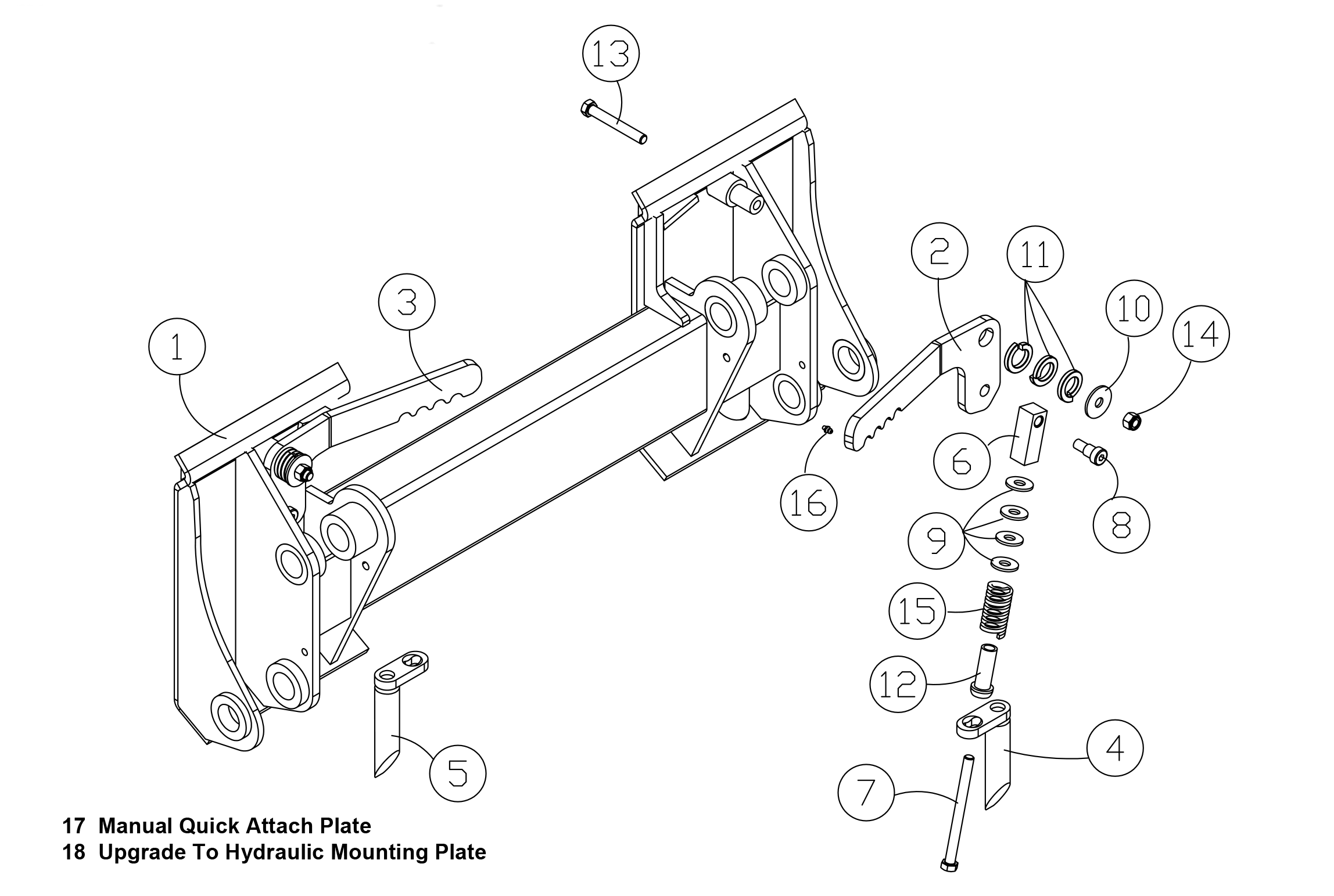 Diagram 25-A Manual Quick Attach Assembly