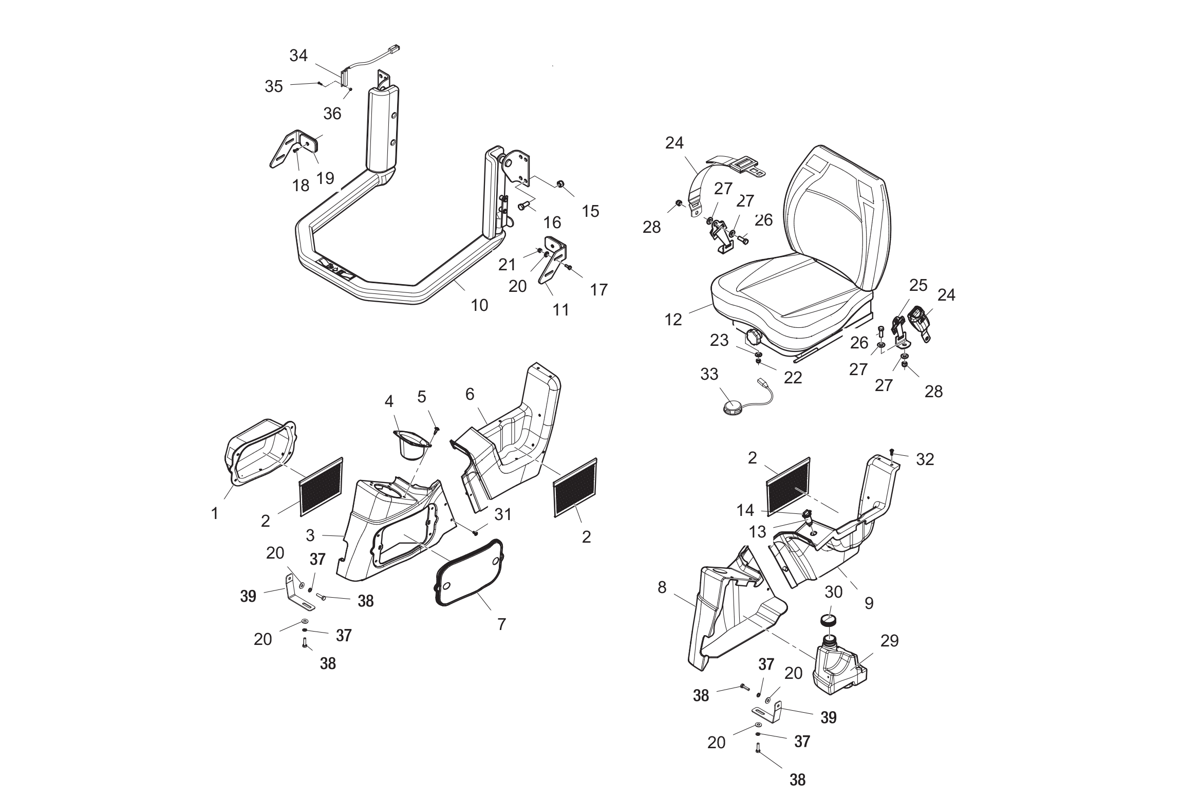 Diagram 05-A Cab Interior - ROPS