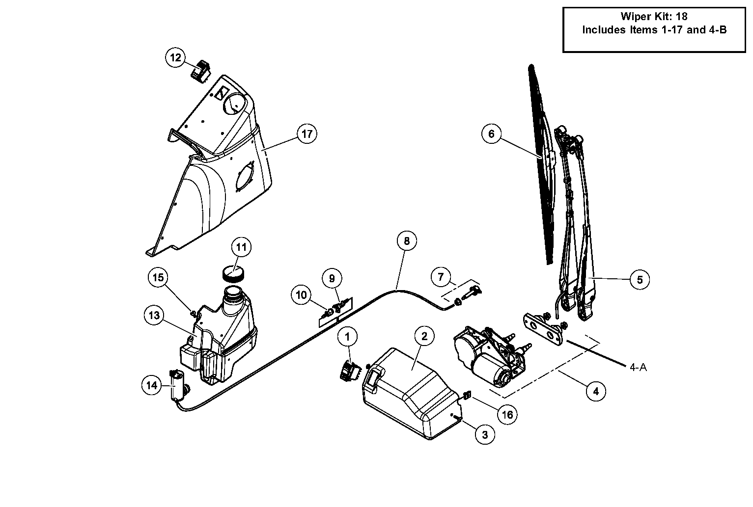 Diagram 08-A Windshield Wiper - Optional