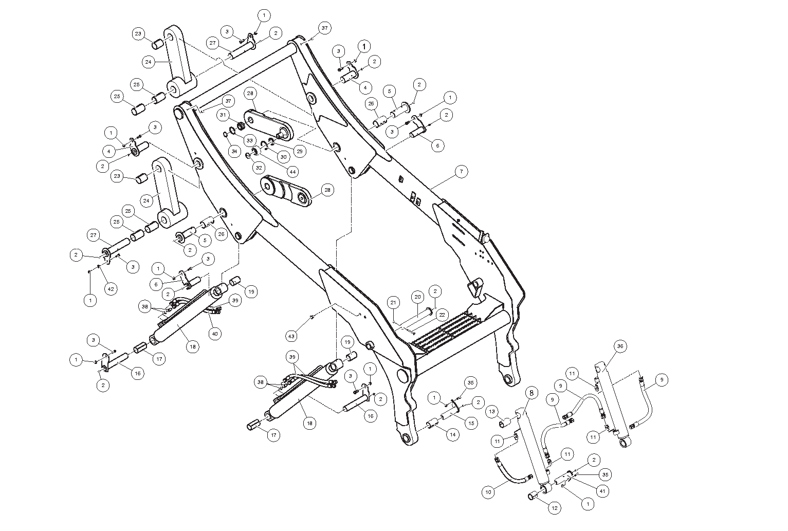 Diagram 23-B Lift Arm Assembly