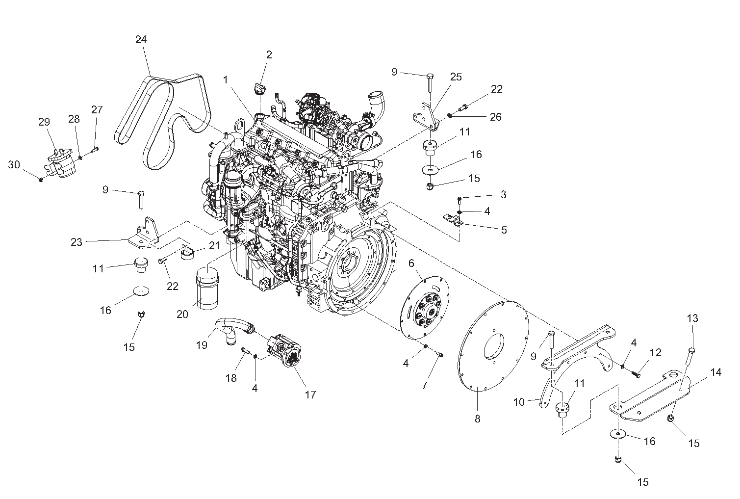 Diagram 2-2A Engine Assembly