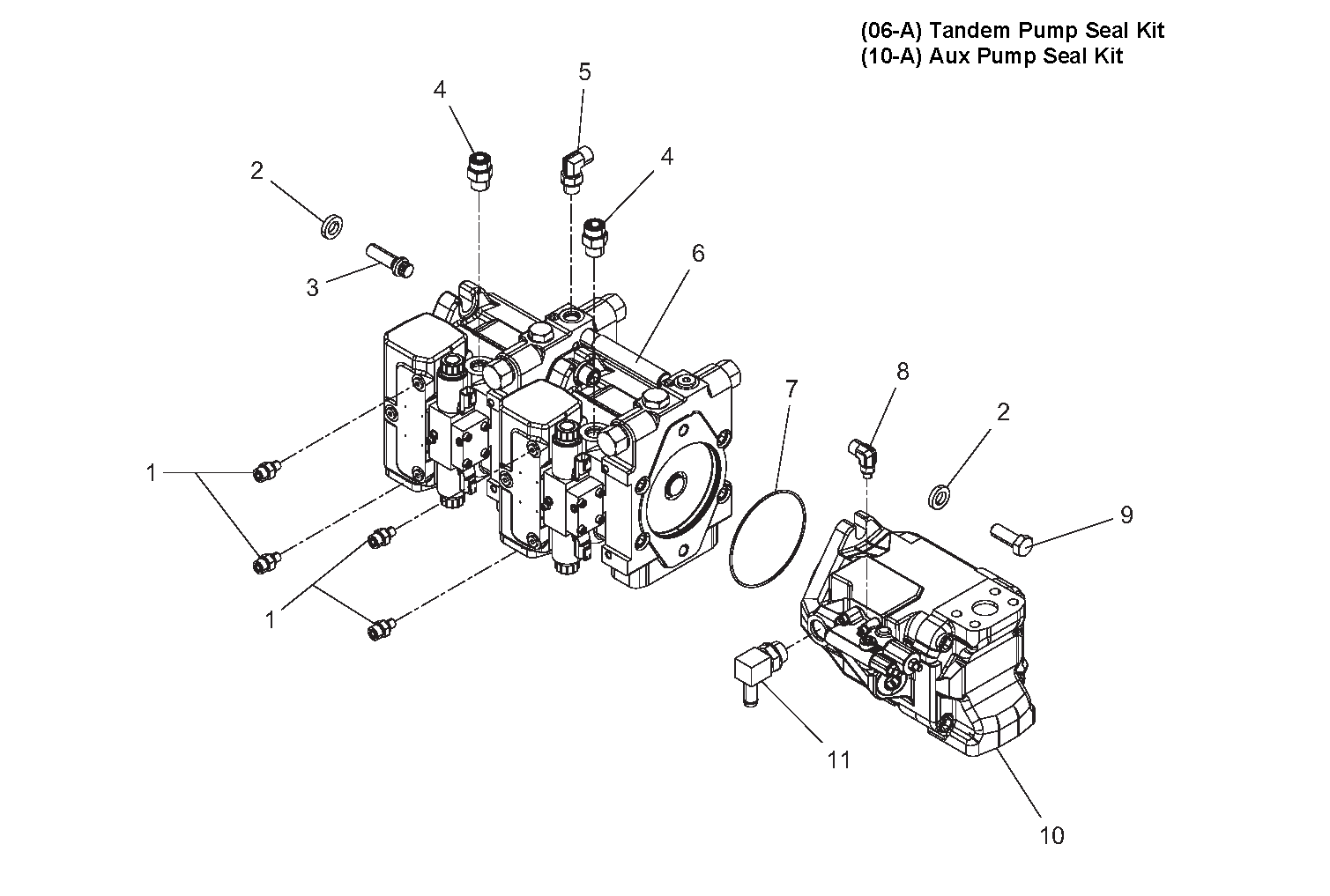 Diagram 3-9A Drive Pump and Auxiliary Pump