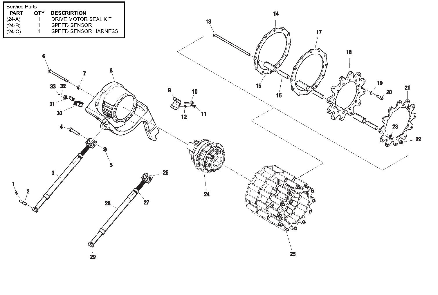 Diagram 5-5B Drive Table Assembly - Left Side