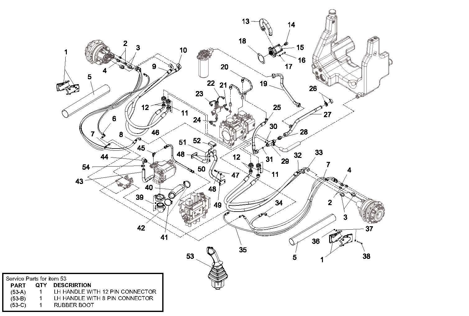 Diagram 3-11A Hydraulic Drive Auxiliary Assembly