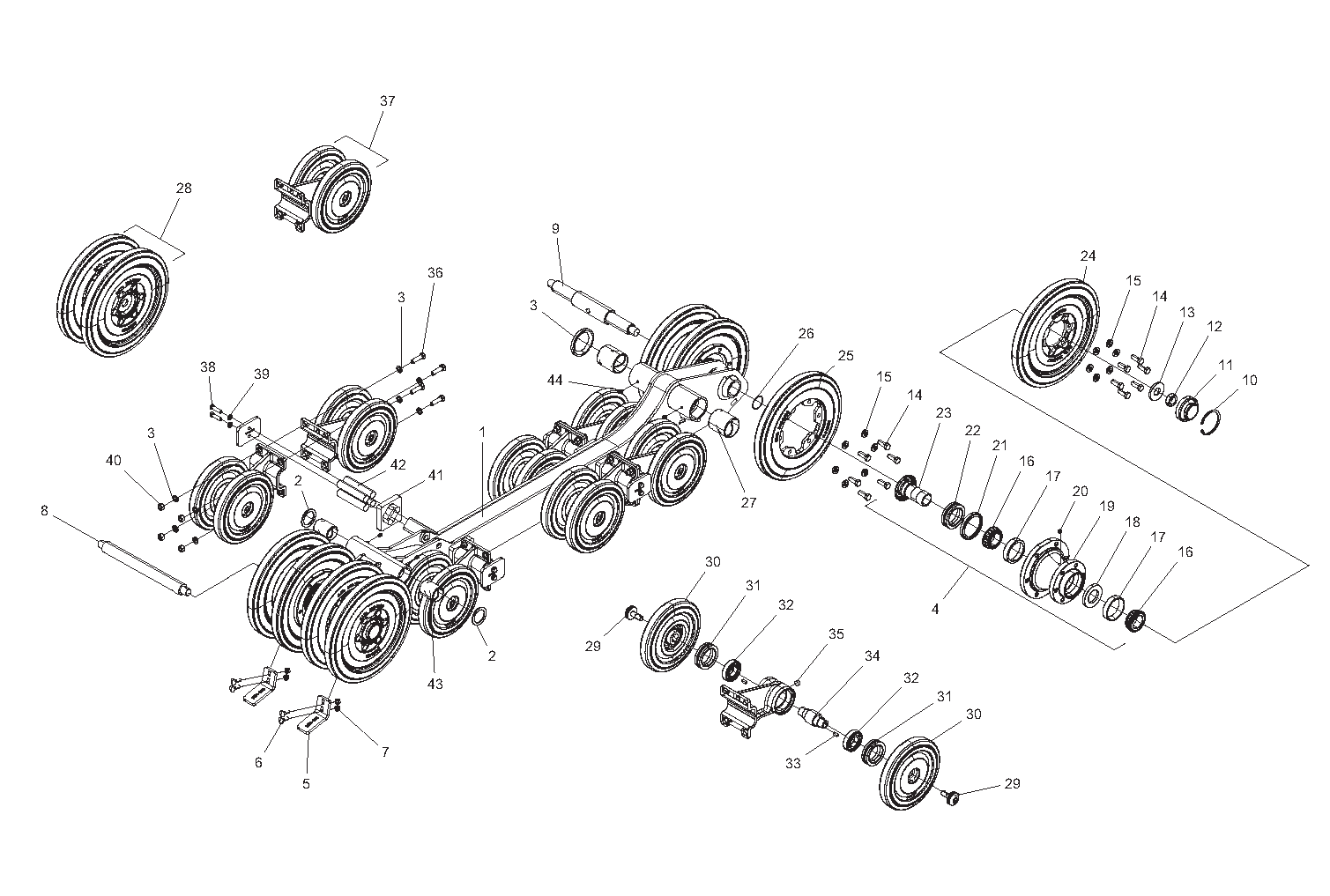 Diagram 5-3A Undercarriage Assembly - Left Side