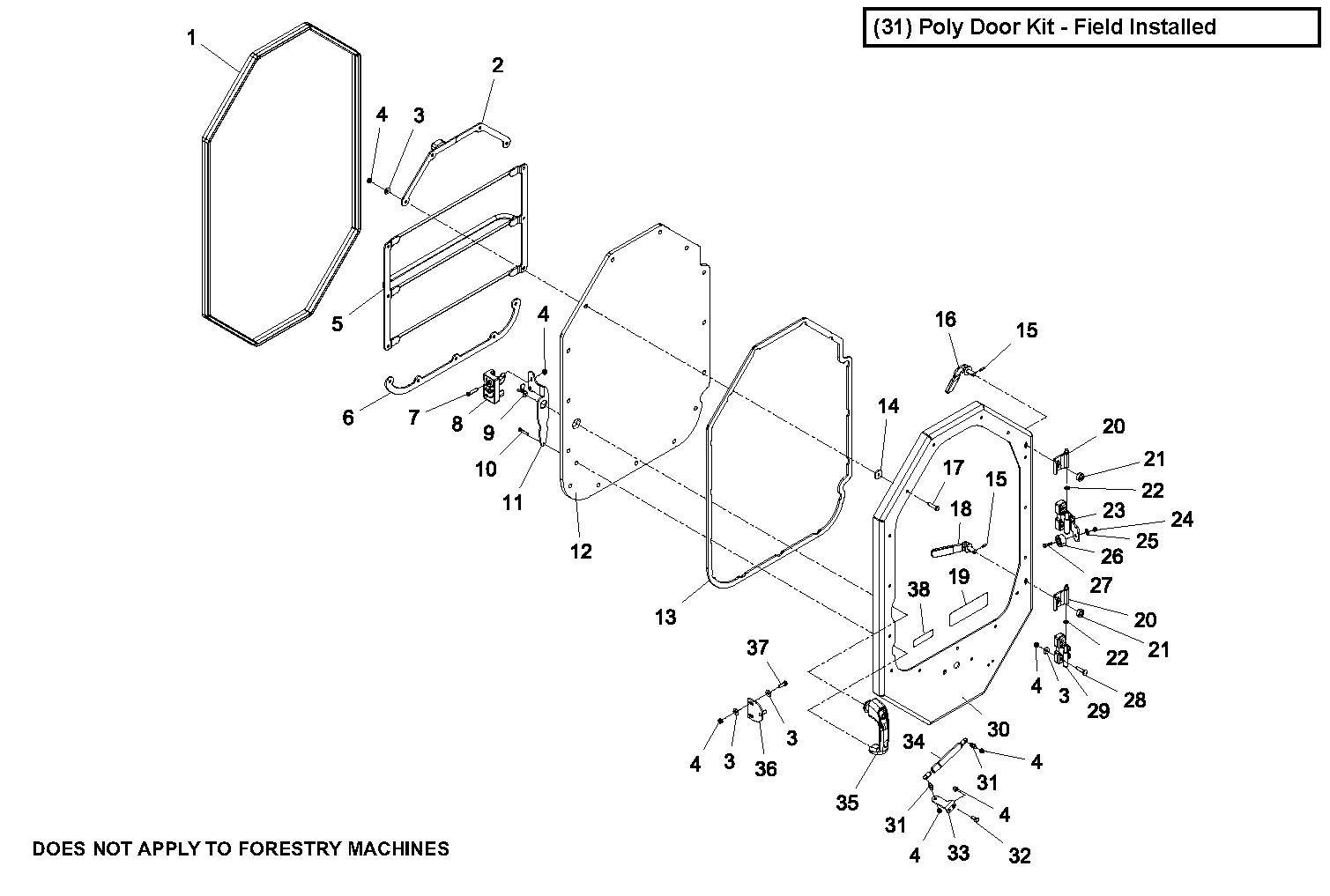 Diagram 11-2A Poly Door - For Non-Forestry Machines