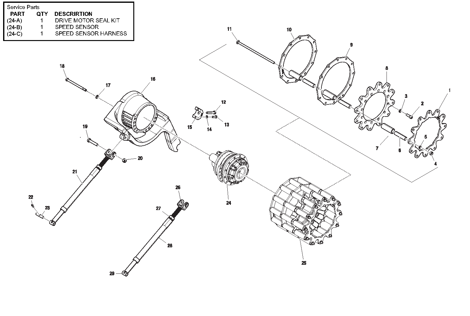 Diagram 5-5A Drive Table Assembly - Left Side