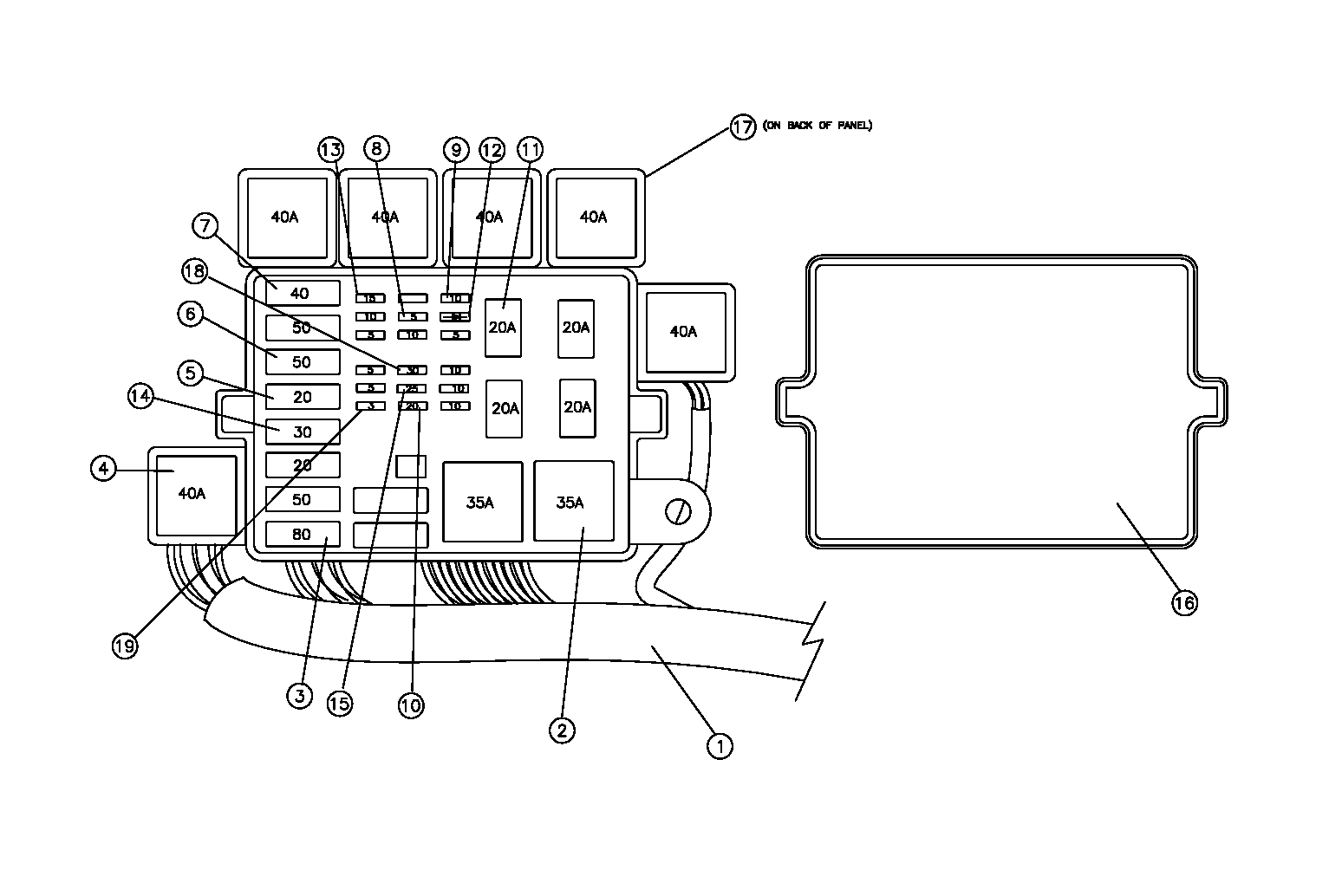 Diagram 11-A Fuse Panel Assembly