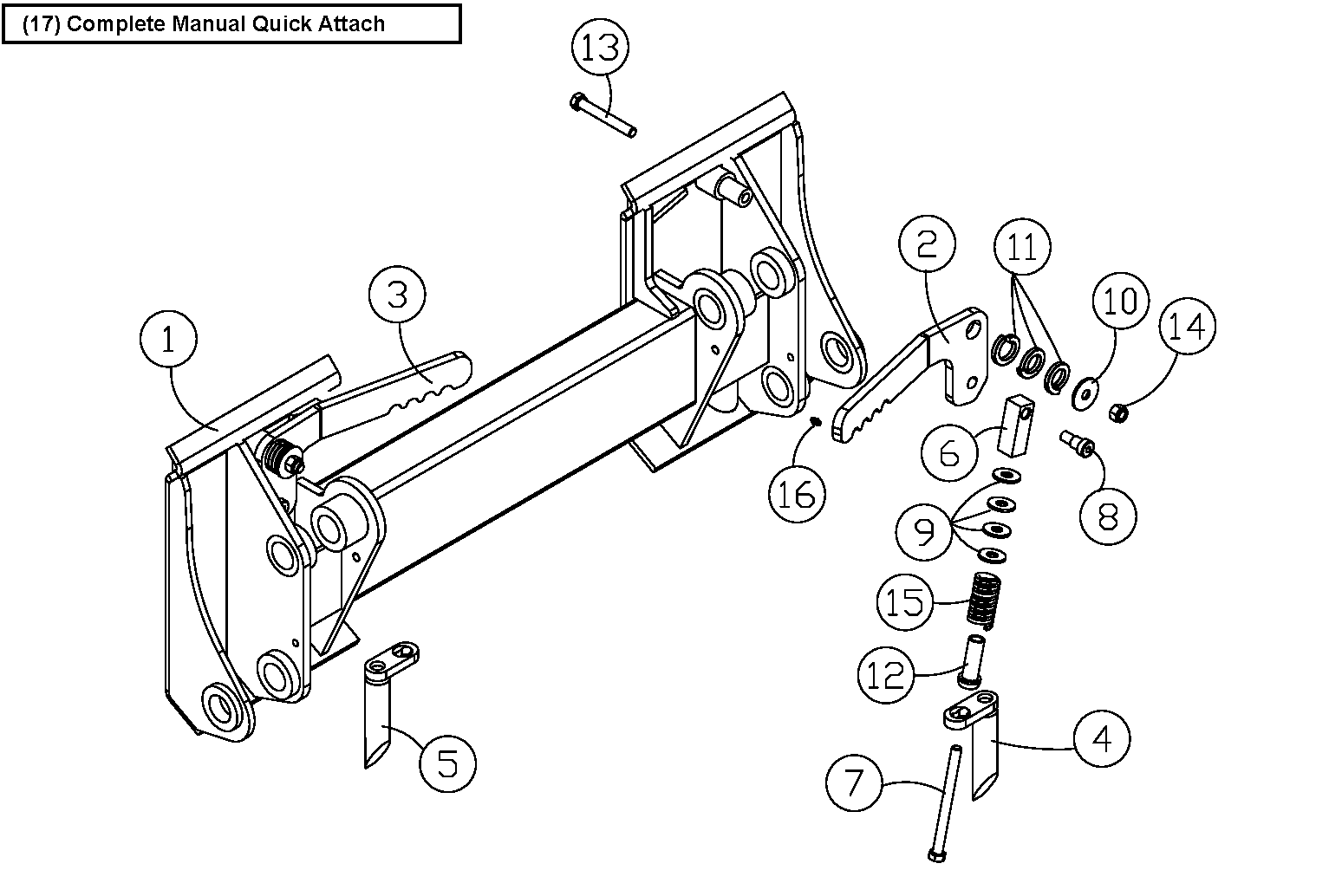 Diagram 17-A Quick Attach Assembly