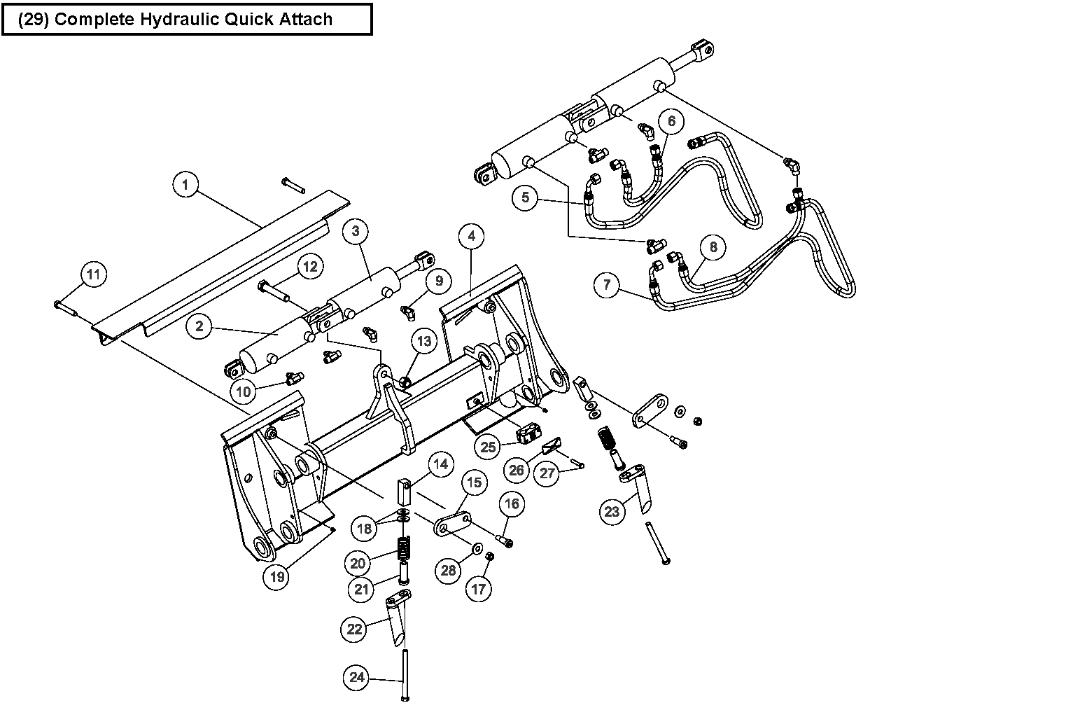 Diagram 18-A Hydraulic Quick Attach Assembly