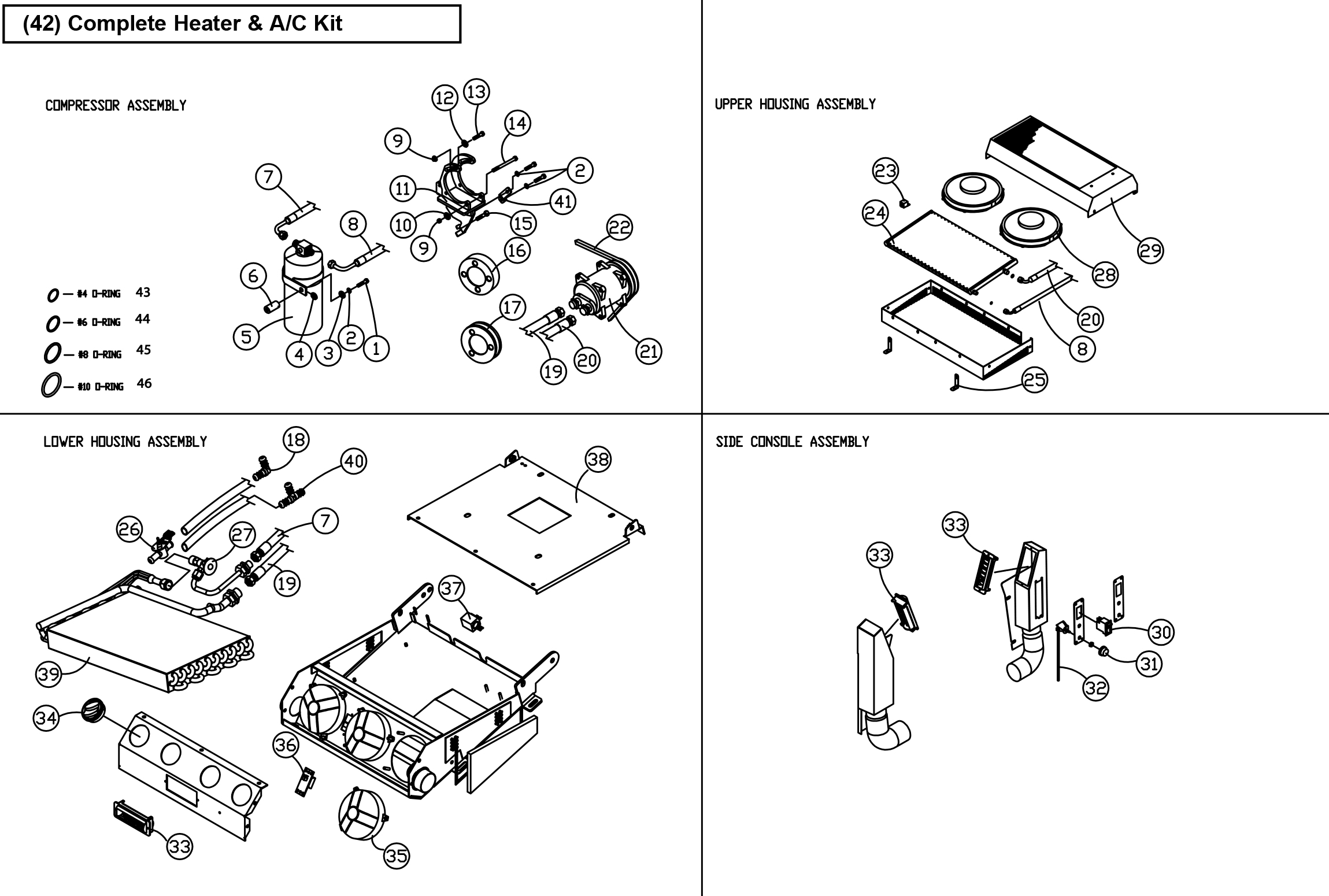 Diagram 20-A Heater and Air Conditioning Assembly