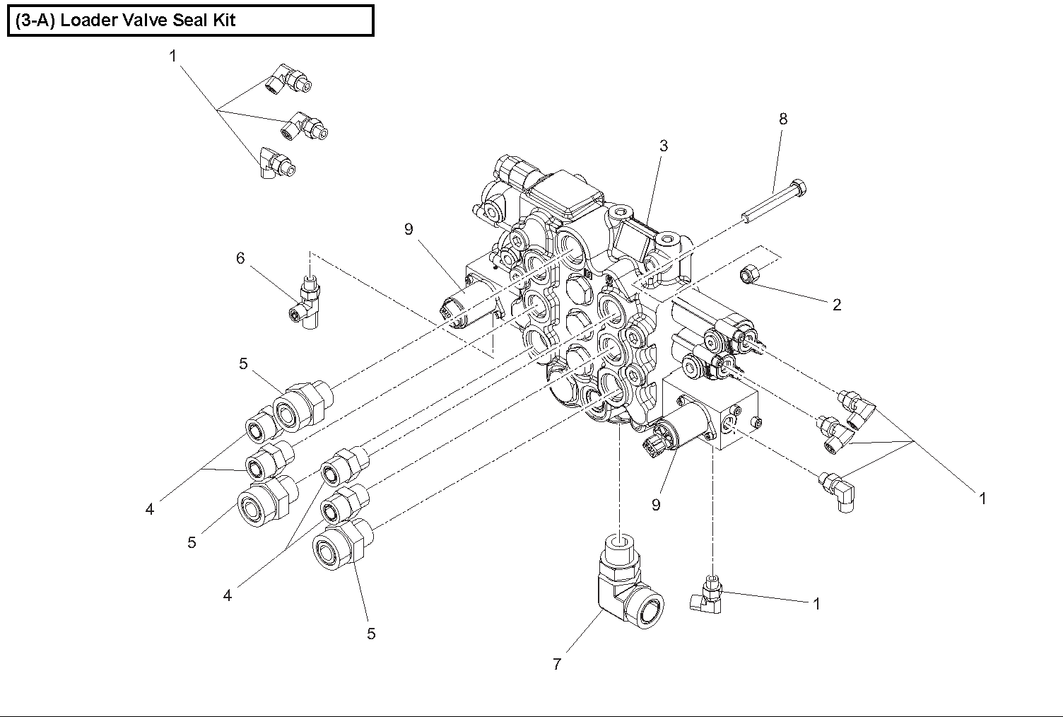 Diagram 3-2A LIft Arm Control Valve