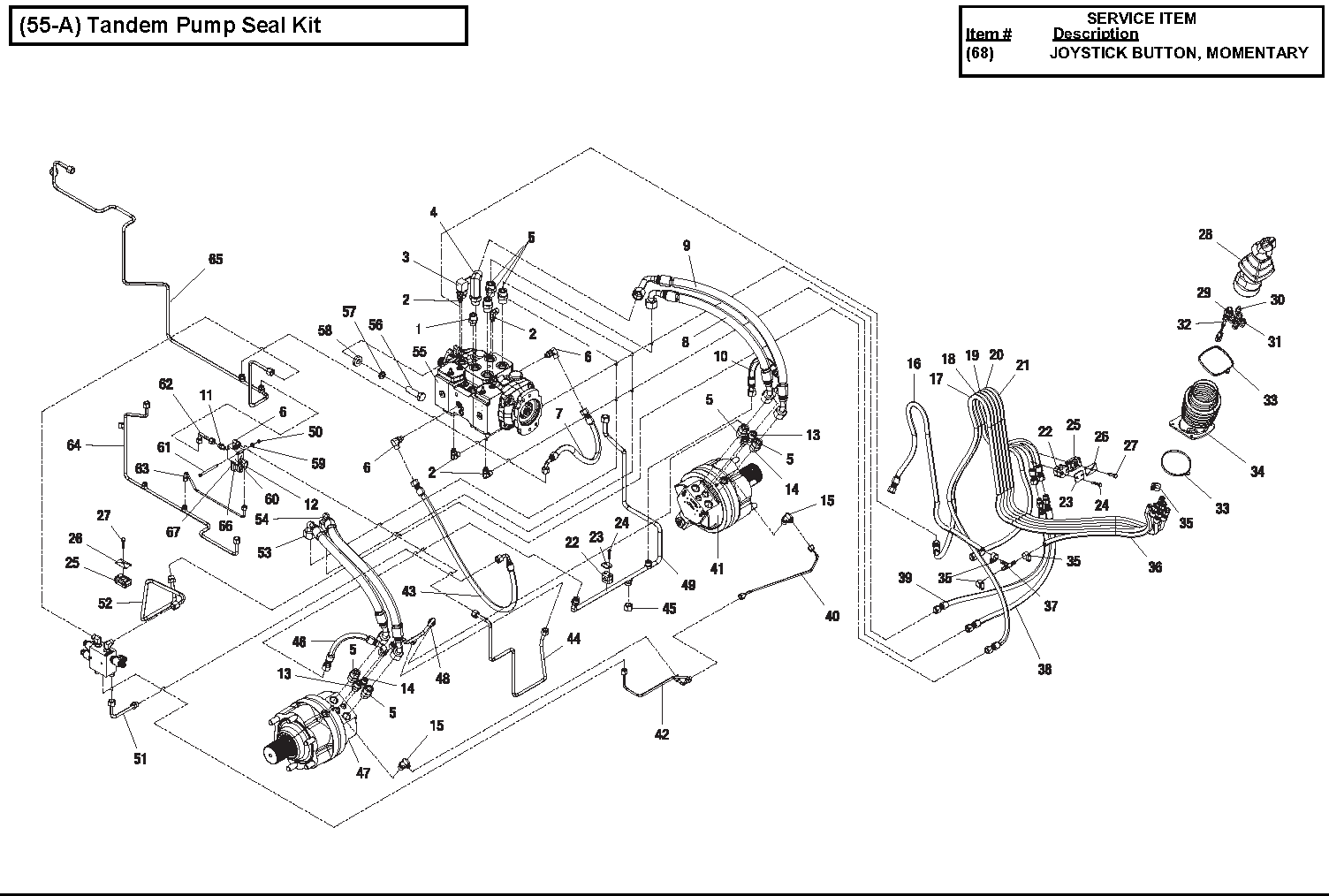 Diagram 3-8A Hydraulic Drive Assembly - 2 Speed