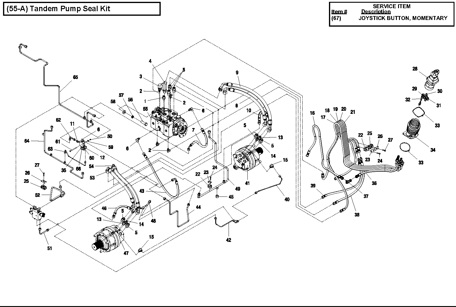 Diagram 3-8B Hydraulic Drive Assembly - 2 Speed