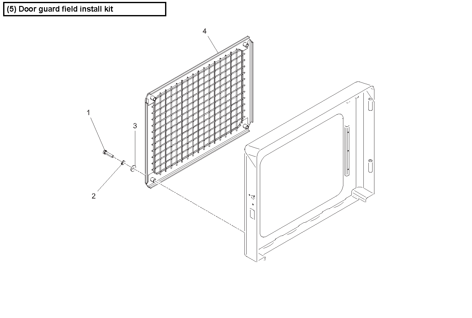 Diagram 6-3A Rear Screen - Optional