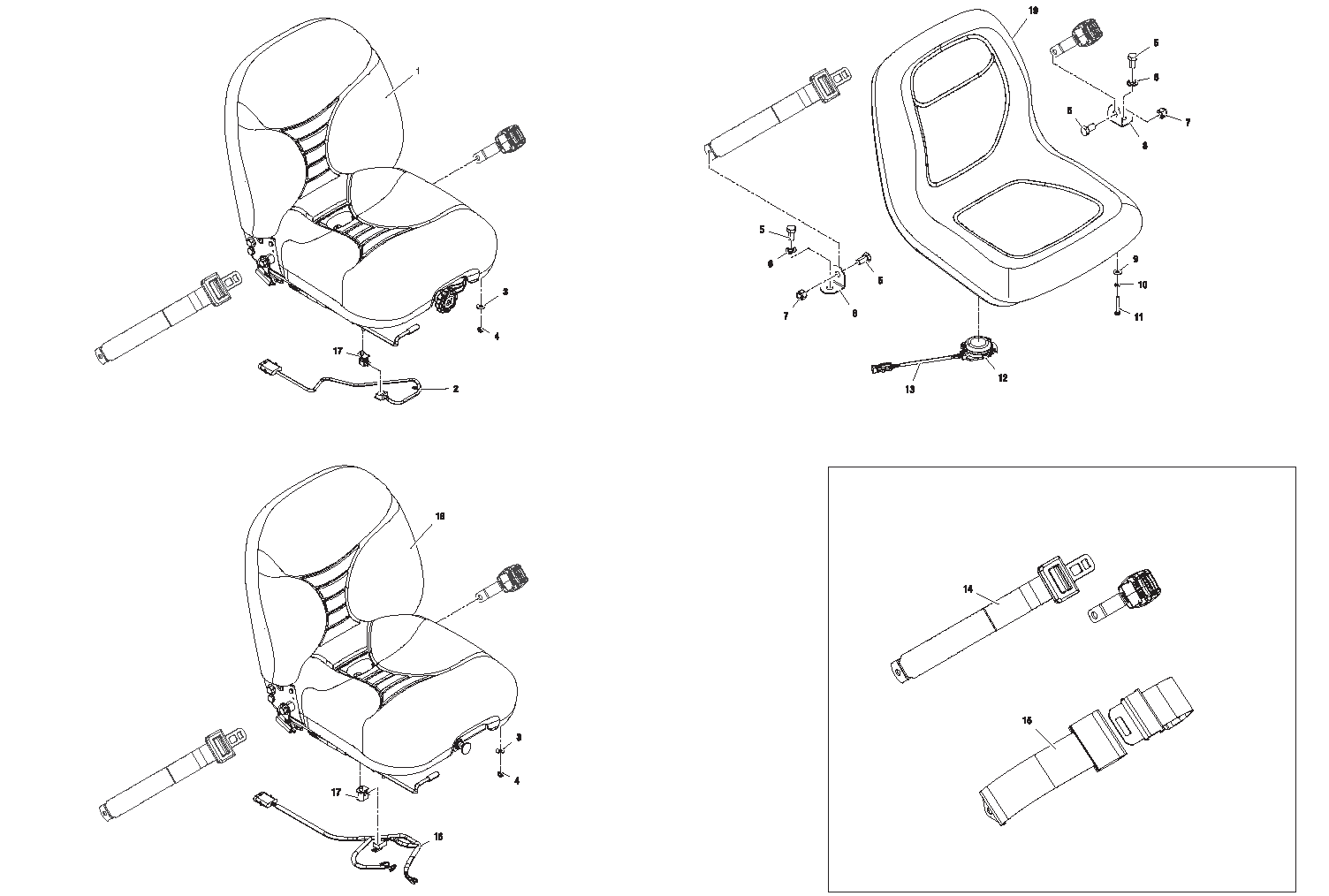 Diagram 7-5A Seat - Seatbelt - Seat Switches