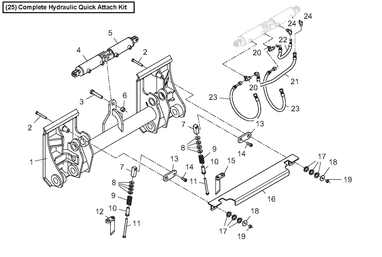 Diagram 8-3A Quick Attach - Hydraulic