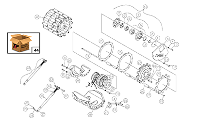 Diagram 20-A Drive Table Assembly - Left Hand